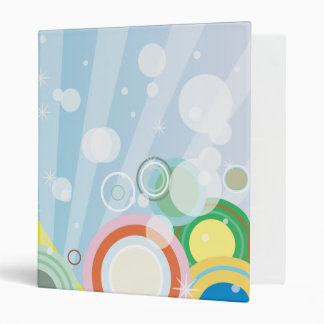 Retro Blue And Yellow Binder