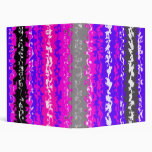 Retro blue black pink gray psychedelic rectangles binders