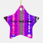 Retro blue black pink gray psychedelic rectangles ornament