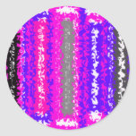 Retro blue black pink gray psychedelic rectangles stickers