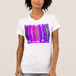 Retro blue black pink gray psychedelic rectangles tee shirts