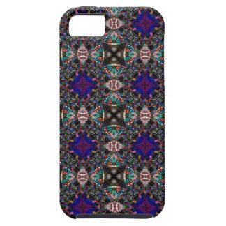 Retro Blue Blossom Fractal Pattern iPhone SE/5/5s Case