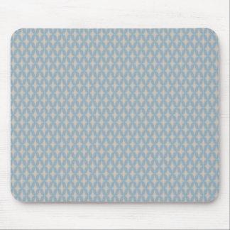 Retro Blue Bonnie Star Mouse Pad