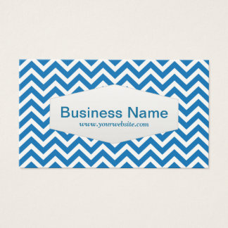 Retro Blue Chevron Mechanic Business Card