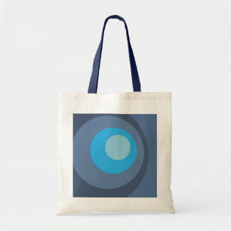 Retro Blue Circles Tote Bag