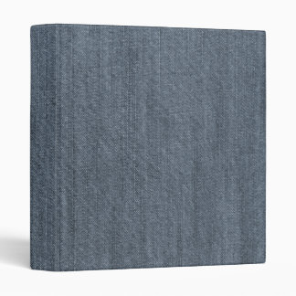 Retro Blue Denim Texture Binder