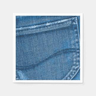 Retro Blue Denim Texture Napkin