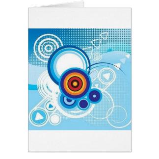 retro blue effect card