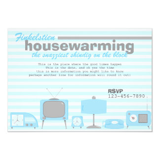 Retro Blue Electronics Card