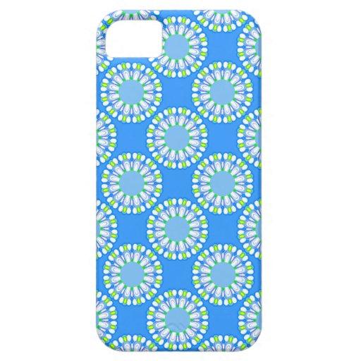 Retro Blue Flowers iPhone 5 Case Women's Gift