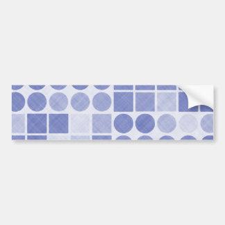 Retro Blue Geometric Pattern Bumper Sticker