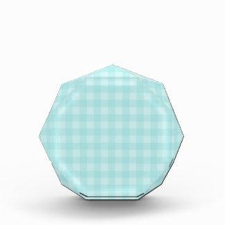 Retro Blue Gingham Checkered Pattern Background Acrylic Award