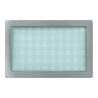 Retro Blue Gingham Checkered Pattern Background Belt Buckle