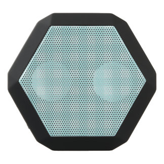Retro Blue Gingham Checkered Pattern Background Black Bluetooth Speaker