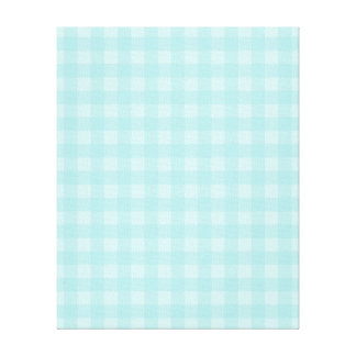 Retro Blue Gingham Checkered Pattern Background Canvas Print