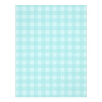 Retro Blue Gingham Checkered Pattern Background Flyer