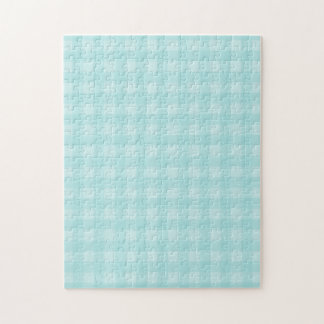 Retro Blue Gingham Checkered Pattern Background Jigsaw Puzzle
