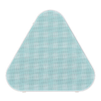 Retro Blue Gingham Checkered Pattern Background Speaker