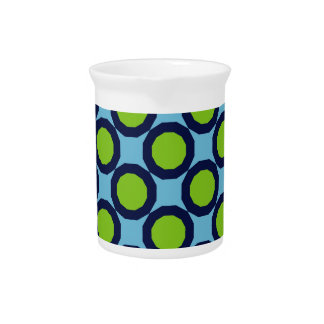 Retro Blue-Green Beverage Pitcher