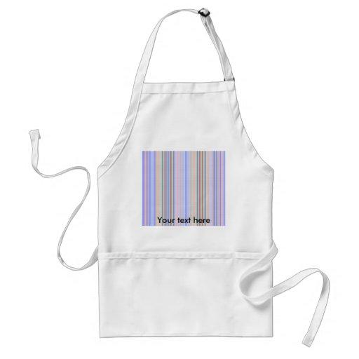 Retro blue green patterned stripes apron