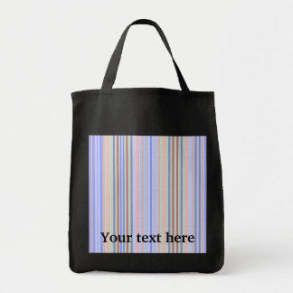 Retro blue green patterned stripes tote bags