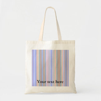 Retro blue green patterned stripes tote bag