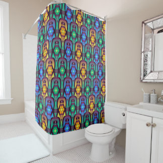 Blue And Yellow Shower Curtains