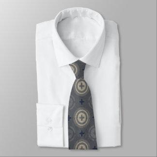 Retro Blue Grunge Polka Dot Design Neck Tie