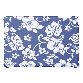 Retro Blue Hawaiian Print iPad case