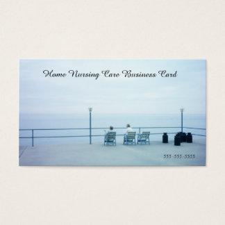 Retro Blue Home Nursing Care Assistance Service Business Card
