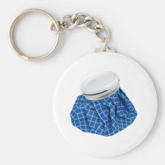 Retro Blue Ice Pack Basic Round Button Keychain