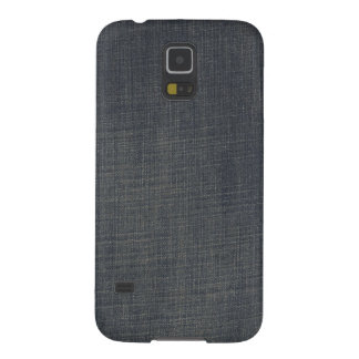 Retro Blue Old Faded Ripped Denim Texture Galaxy S5 Cover