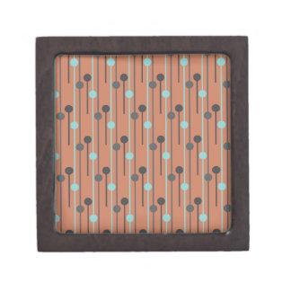 retro blue on salmon swizzle sticks gift box