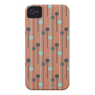retro blue on salmon swizzle sticks iPhone 4 cover