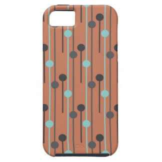 retro blue on salmon swizzle sticks iPhone SE/5/5s case