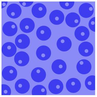 Retro blue pattern. Circles design. Cutout