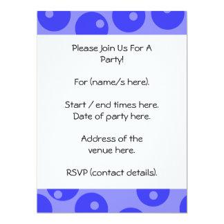 "Retro blue pattern. Circles design. 6.5"" X 8.75"" Invitation Card"