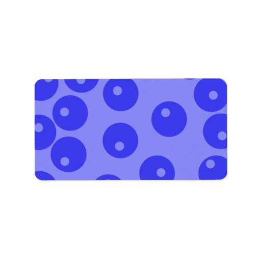 Retro blue pattern. Circles design. Personalized Address Labels