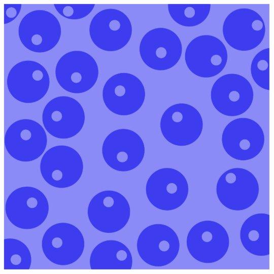 Retro blue pattern. Circles design. Statuette