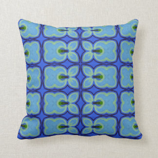 Retro Blue Pear Throw Pillow