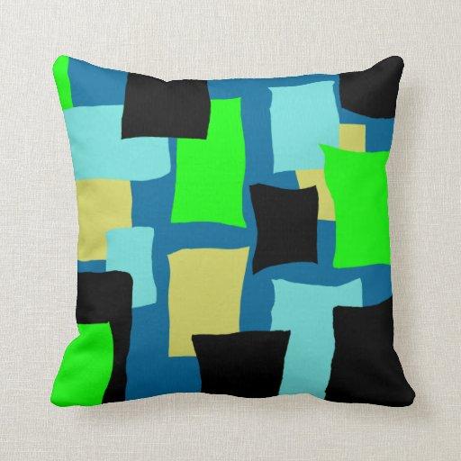 Retro Blue Pillow