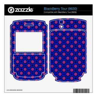 retro blue pink circle pattern skins for BlackBerry