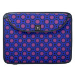 retro blue pink circle pattern sleeve for MacBooks