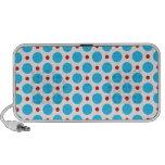 Retro Blue Polka Dots Notebook Speaker