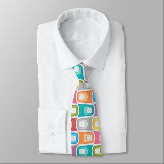 retro  Blue rainbow abstract  rockabilly neck tie