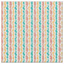 Retro Blue Red and Gold Wiggly Stripes Fabric
