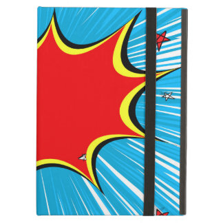 Retro Blue & Red Stars Comic Explosion iPad Air Case