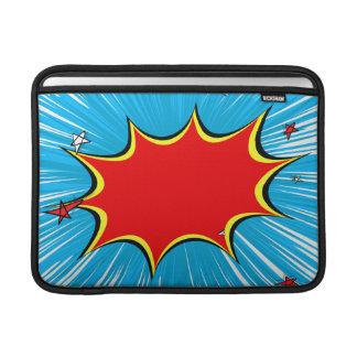 Retro Blue & Red Stars Comic Explosion MacBook Sleeves