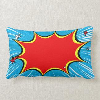 Retro Blue & Red Stars Comic Explosion Pillows