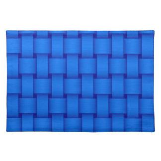 Retro blue retro stripes graphic design placemat
